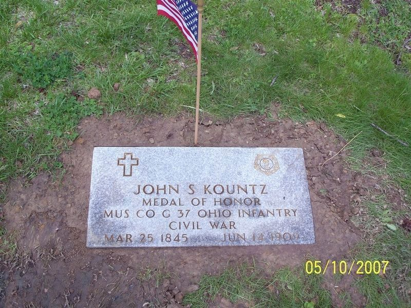 John S. Kountz-Medal of Honor Grave Marker image. Click for full size.
