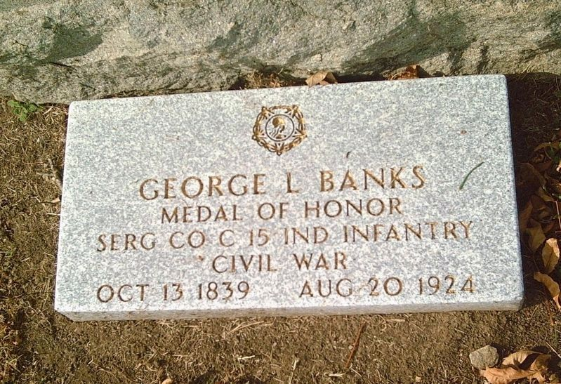 George L. Banks Medal of Honor grave marker image. Click for full size.