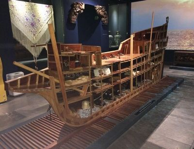 A cutaway exhibit of a galleon at the Mexican Naval Museum. image. Click for full size.
