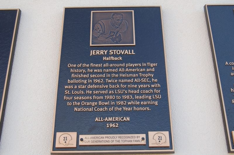 Jerry Stovall Marker image. Click for full size.