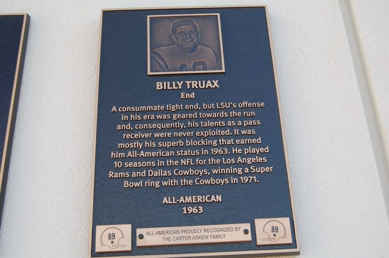 Billy Truax Marker image. Click for full size.