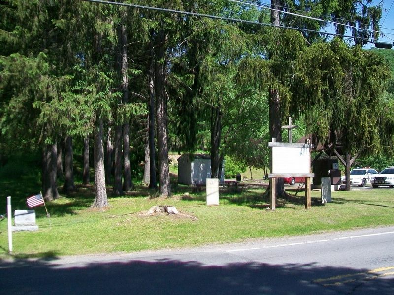 Site of St. John's Church and Cemetery Marker image. Click for full size.