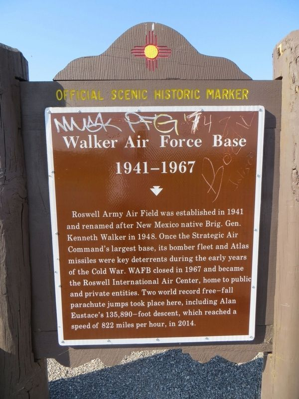 Walker Air Force Base Marker image. Click for full size.