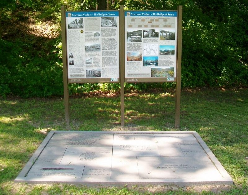 Starrucca Viaduct - The Bridge of Stone Marker Panels and Donor Pavers image. Click for full size.