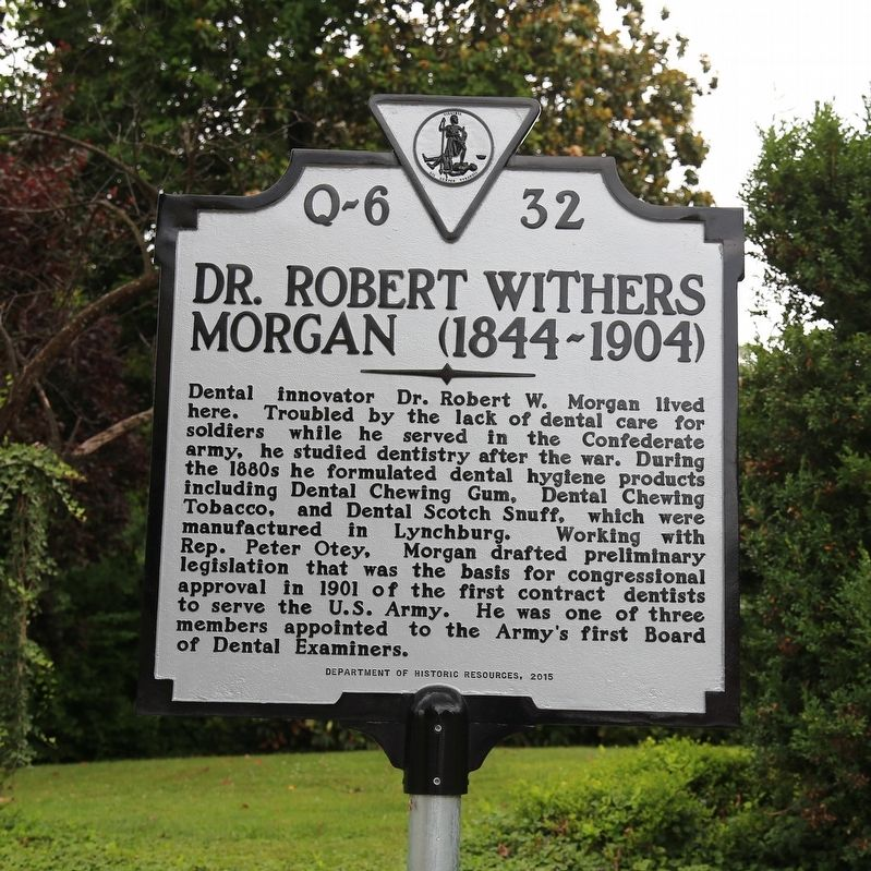 Dr. Robert Withers Morgan Marker image. Click for full size.