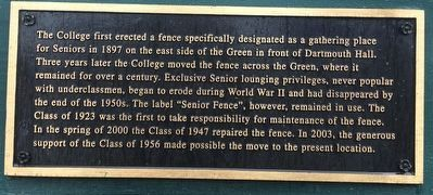 """Senior Fence"" Marker image. Click for full size."