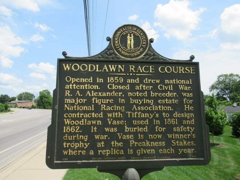 Woodlawn Race Course Marker image. Click for full size.