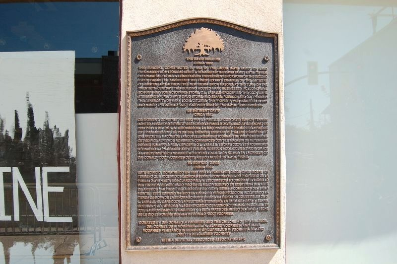 The Davis Building Marker image. Click for full size.