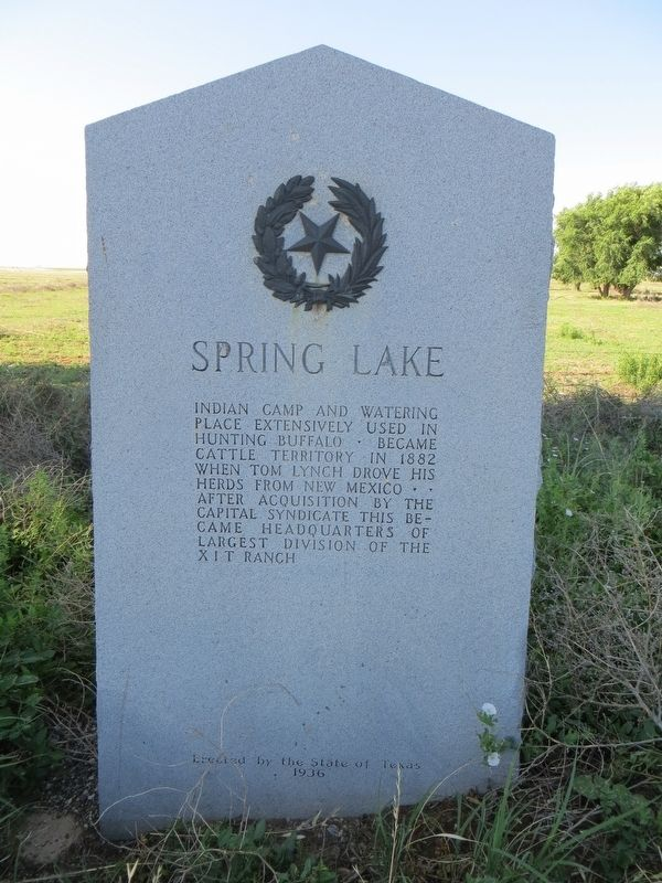 Spring Lake Marker image. Click for full size.