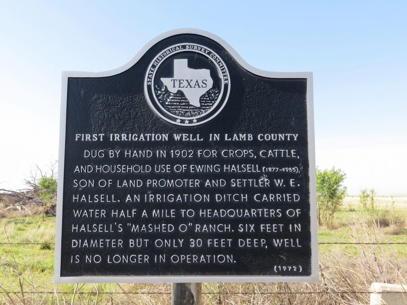 First Irrigation Well in Lamb County Marker image. Click for full size.