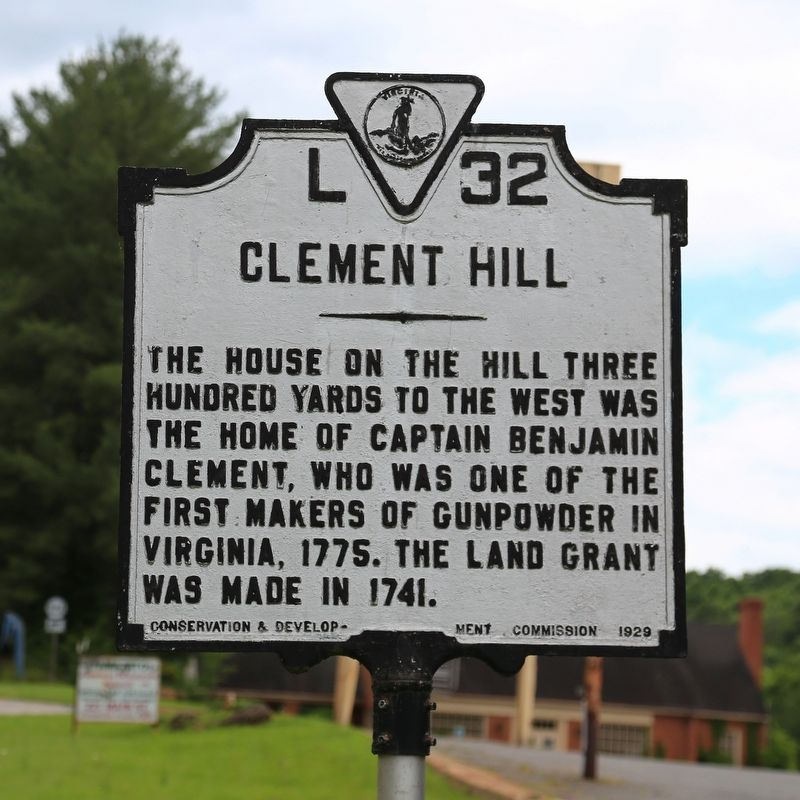 Clement Hill Marker image. Click for full size.