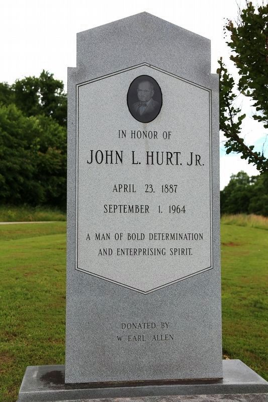 John L. Hurt, Jr. Monument image. Click for full size.