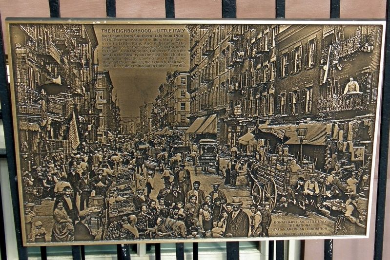 The Neighborhood - Little Italy Marker image. Click for full size.