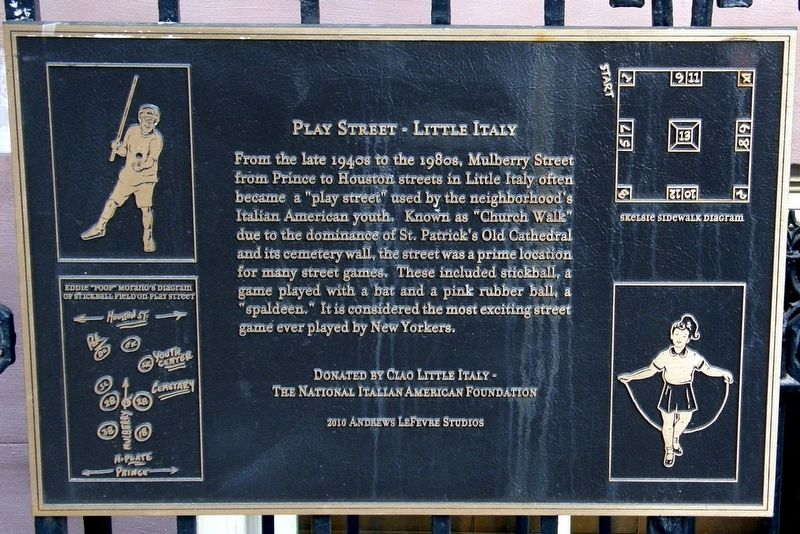 Play Street - Little Italy Marker image. Click for full size.