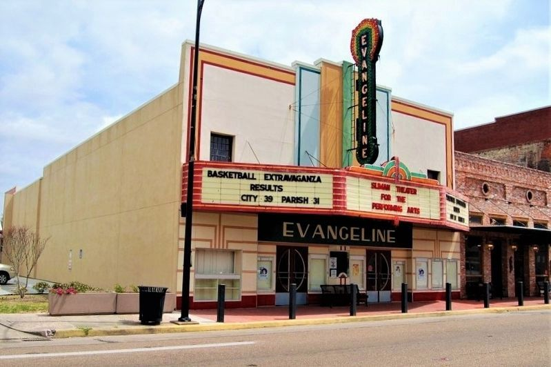 Evangeline Theater Marker image. Click for full size.