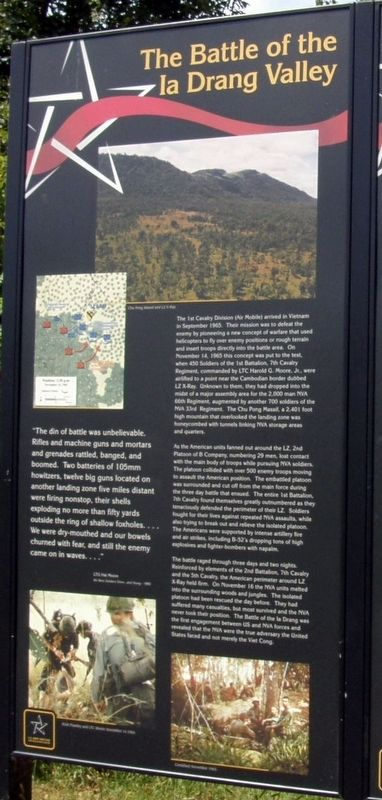 The battle of the Ia Drang Valley Marker image. Click for full size.