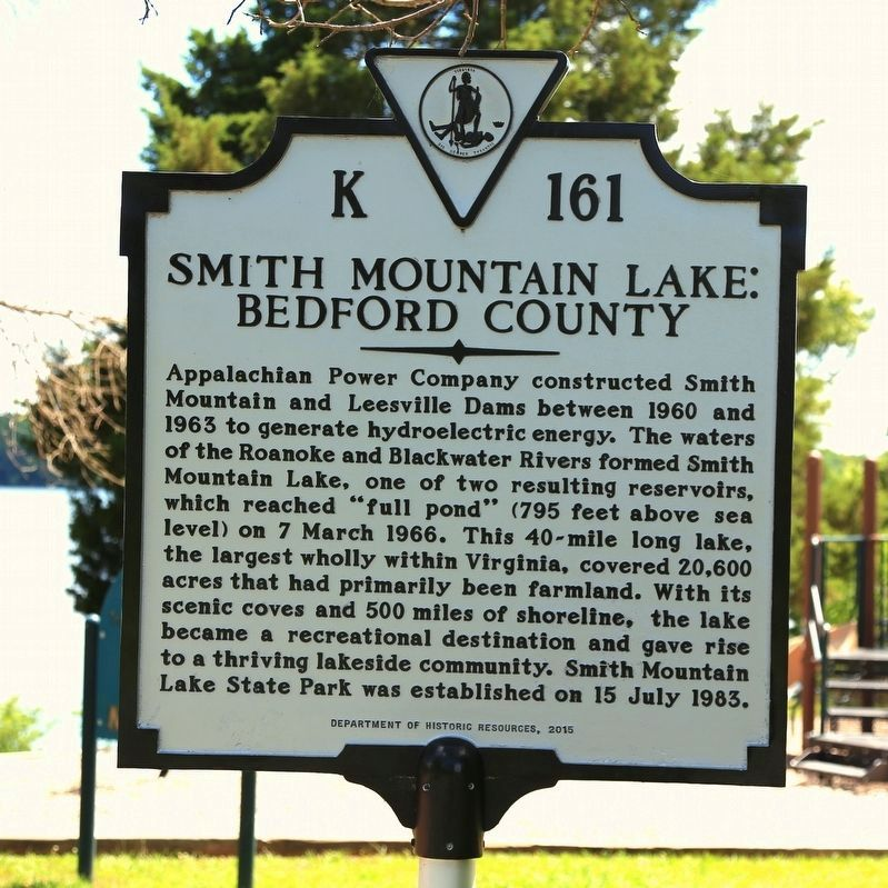 Smith Mountain Lake Bedford County Marker image. Click for full size.