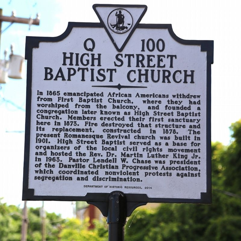 High Street Baptist Church Marker image. Click for full size.