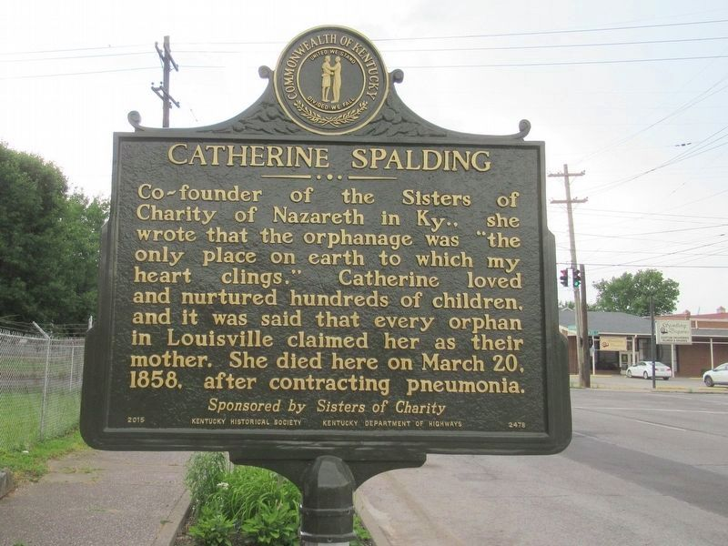 Catherine Spalding Marker image. Click for full size.
