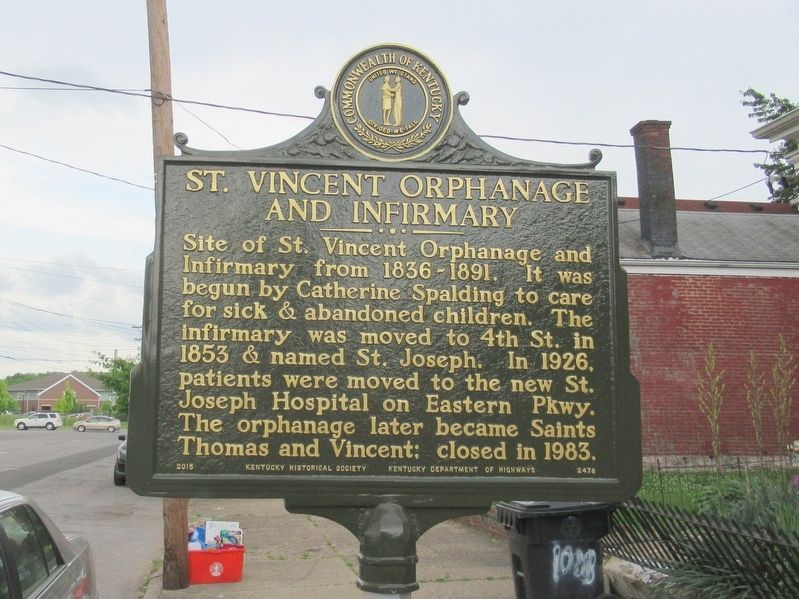 St. Vincent Orphanage and Infirmary Marker image. Click for full size.