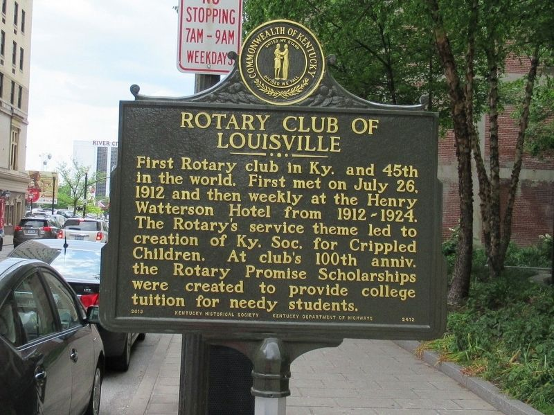 Rotary Club of Louisville Marker image. Click for full size.