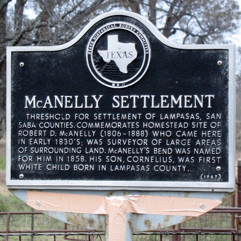 McAnelly Settlement Texas Historical Marker image. Click for full size.