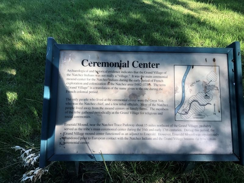 Ceremonial Center Marker image. Click for full size.