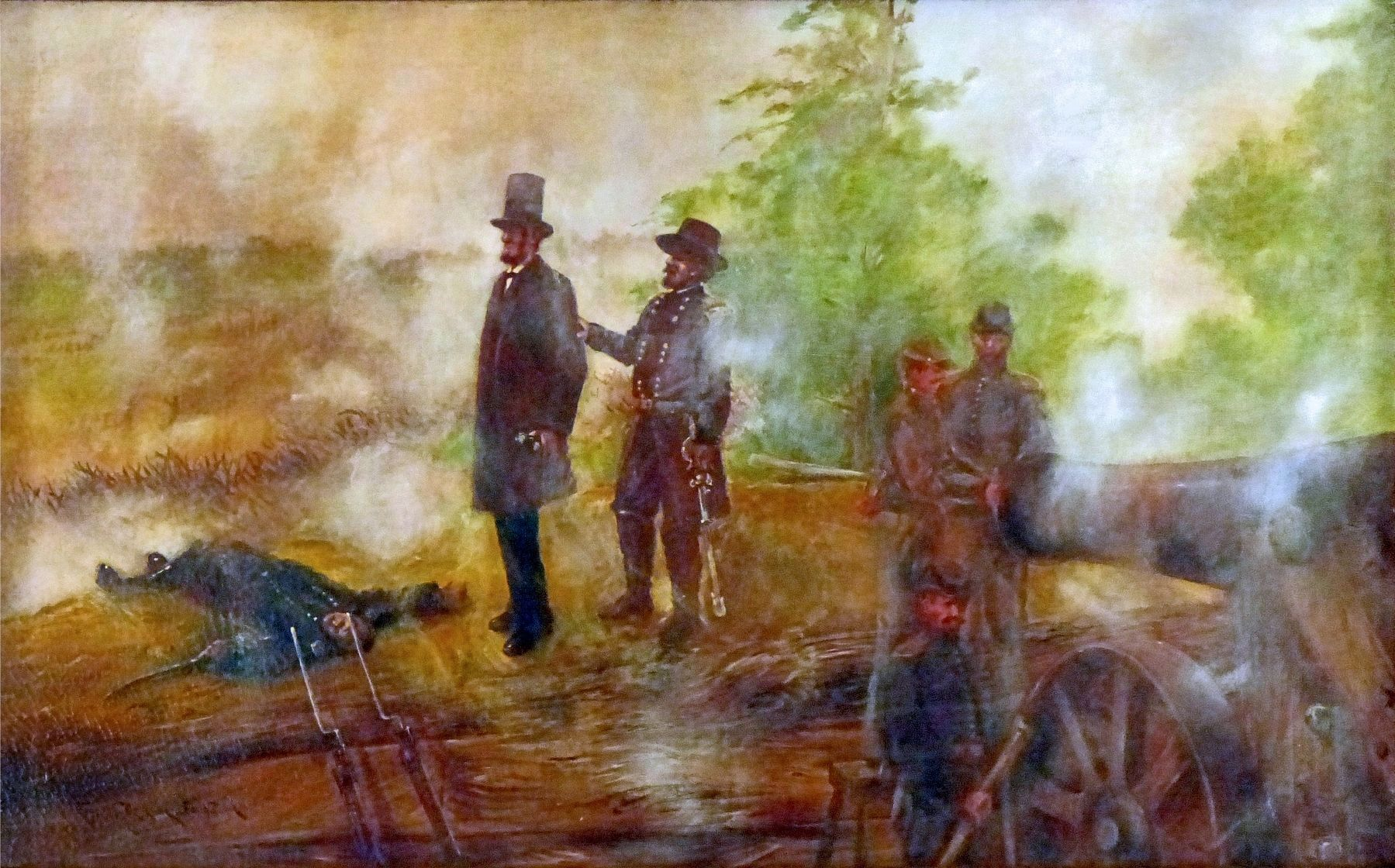 Abraham Lincoln at the Battle of Fort Stevens image. Click for full size.