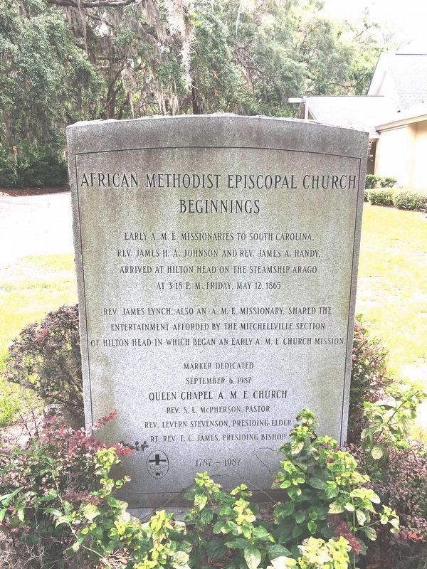 African Methodist Episcopal Church Beginnings Marker image. Click for full size.