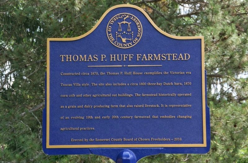 Thomas P. Huff Farmstead Marker image. Click for full size.