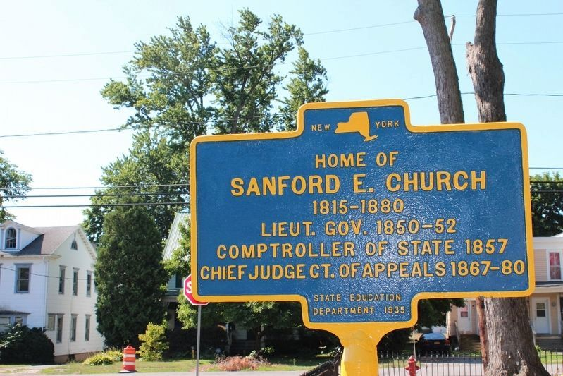 Home of Sanford E. Church Marker image. Click for full size.