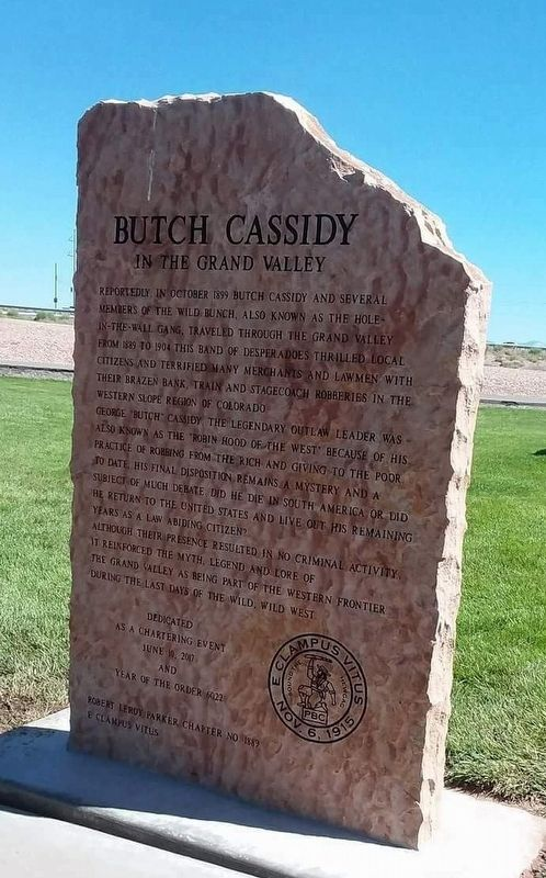 Butch Cassidy Marker image. Click for full size.