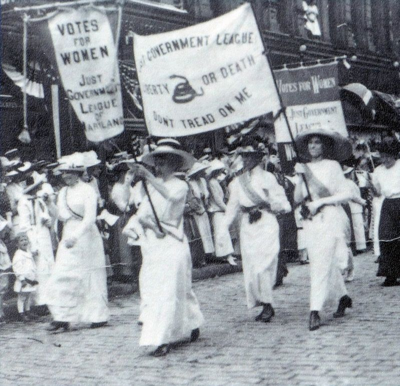 Women's Suffrage Parade 1913 image. Click for full size.