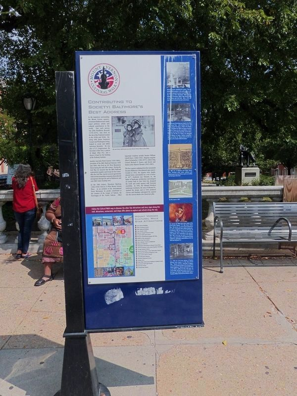 Mount Vernon Cultural Walk-Contributing to Society Marker image. Click for full size.