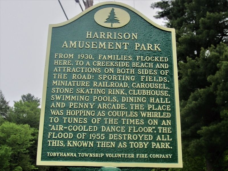 Harrison Amusement Park Marker image. Click for full size.