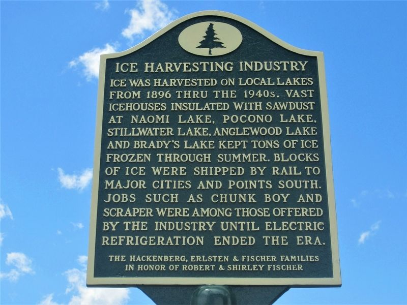 Ice Harvesting Industry Marker image. Click for full size.