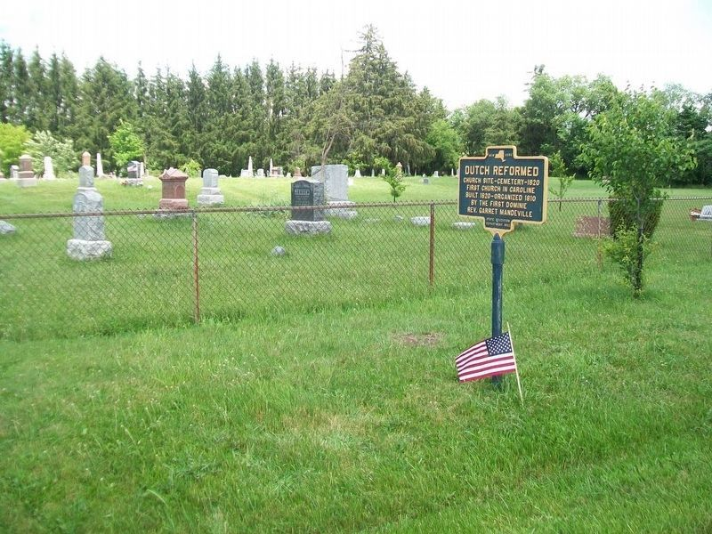 Dutch Reformed Marker and Cemetery image. Click for full size.