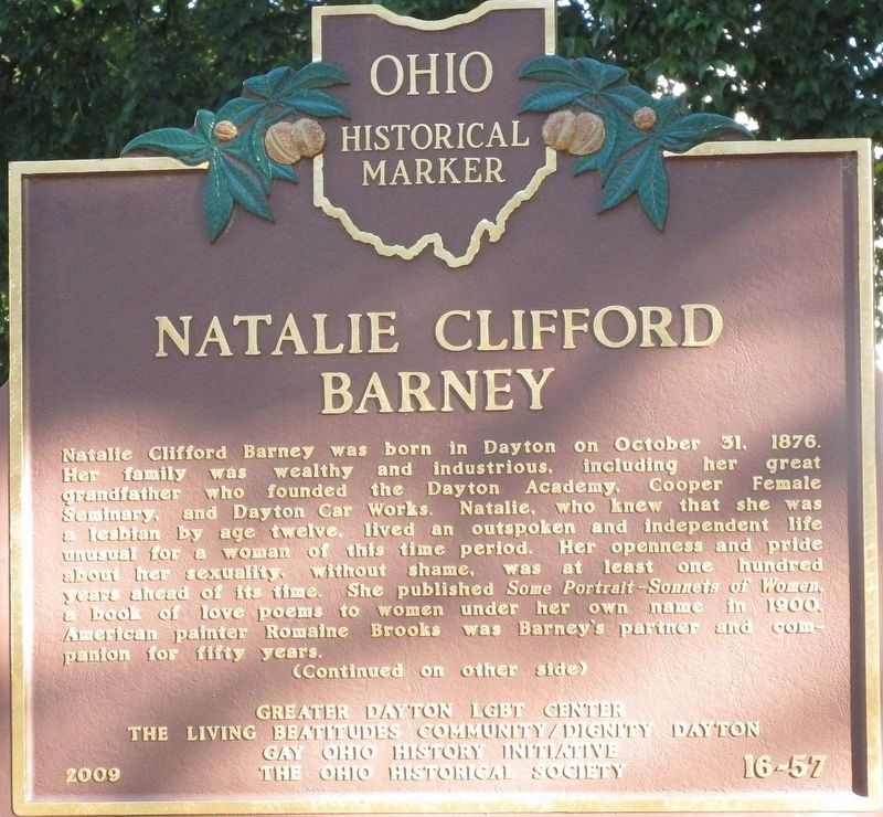 Natalie Clifford Barney Marker image. Click for full size.