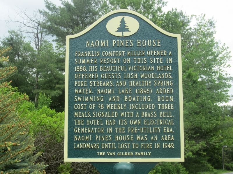 Naomi Pines House Marker image. Click for full size.