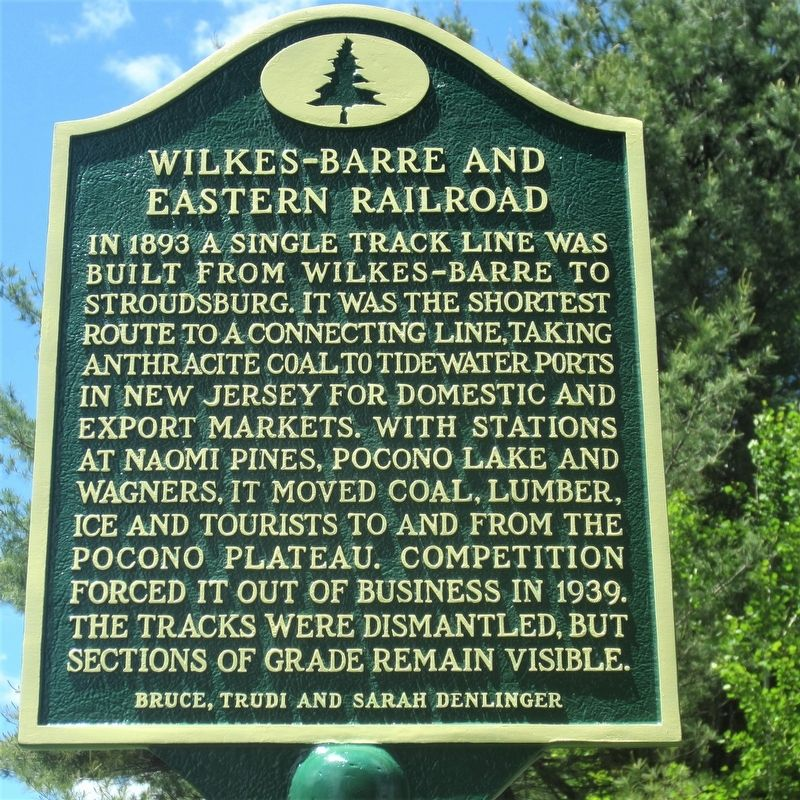 Wilkes-Barre and Eastern Railroad Marker image. Click for full size.
