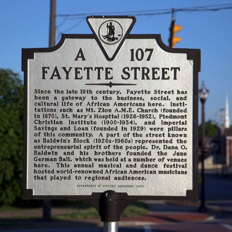 Fayette Street Marker image. Click for full size.