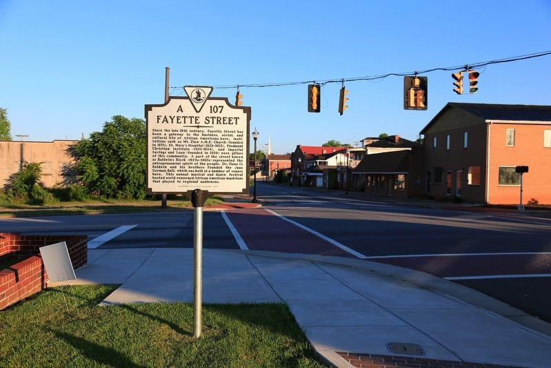 Fayette Street Marker image, Touch for more information