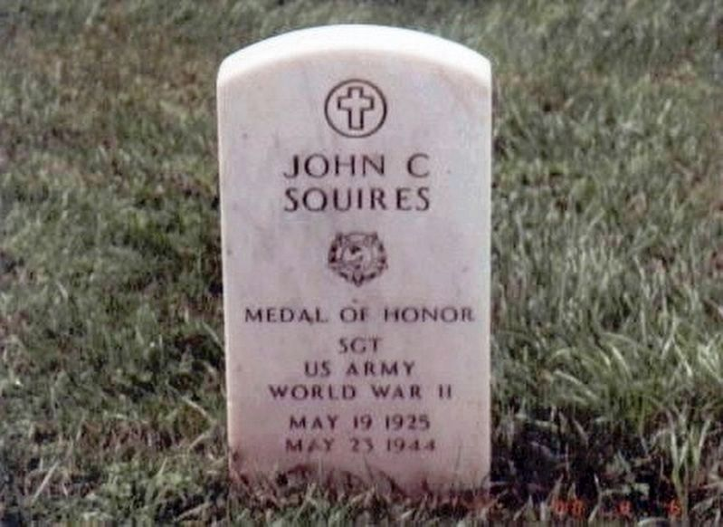John C. Squires-Medal of Honor grave marker image. Click for full size.