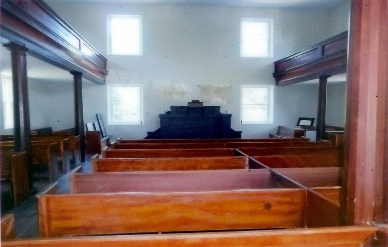 Mt. Zion Old School Baptist Church Interior image. Click for full size.