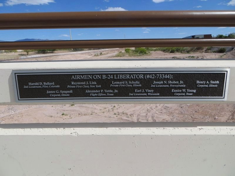 <i>Plaque to left of Airmen Memorial Bridge Marker</i> image. Click for full size.