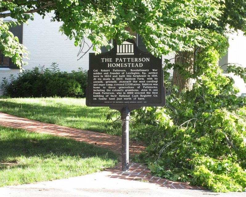 The Patterson Homestead Marker image. Click for full size.