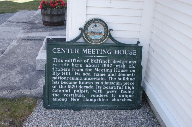 Center Meeting House, Newbury NH Marker image. Click for full size.