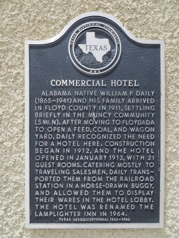 Commercial Hotel Marker image. Click for full size.
