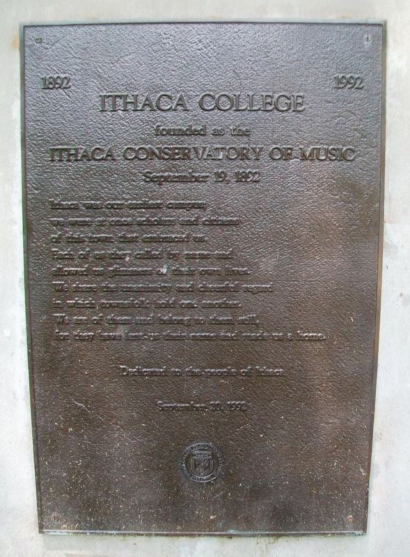Ithaca College Marker image. Click for full size.