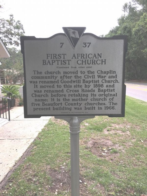 First African Baptist Church Marker (back) image. Click for full size.